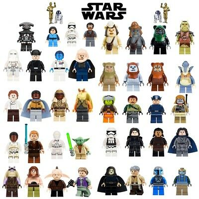 lego star wars minifigure-darth vader-kyloren-luke-yoda-ewok-clon-leia-boba feet
