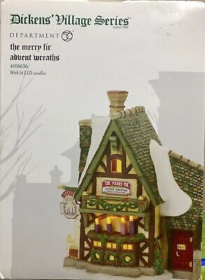 Department 56 Dickens Village The Merry Fir Advent Wreathes #4056636 Retired New
