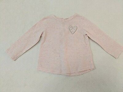 Baby Girls Next Long Sleeve Top Pink Age 9-12 Months