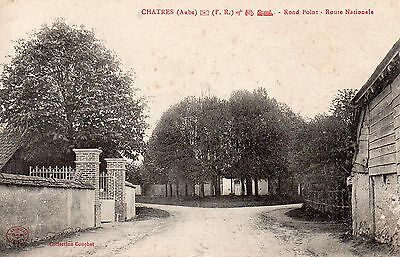 Rare Cpa Chatres - Rond Point  ( Aube - Troyes - Romilly Sur Seine - Mery )