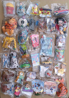 HUGE SELECTION OF ENGLISH M.I.P. McDONALD`S TOY SETS (PAGE 1)