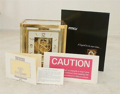 Jaeger LeCoultre Atmos Clock, Model 528-8, Cleaned, Serviced, Timed, Runs Well