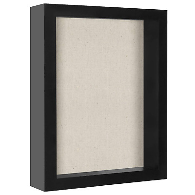 Americanflat 8.5x11 Document Shadow Box Frame Black