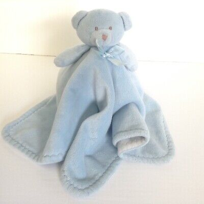 Blankets And Beyond Blue Bear Security Blanket Lovey White Underneath