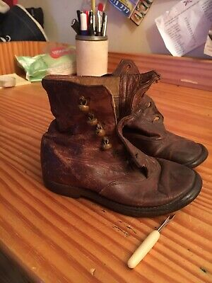Genuine Victorian Leather Child, Infants Shoes