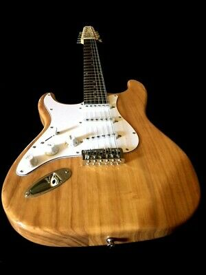New Tele Style 12 String Slab Body Great Grain Natural Electric Guitar