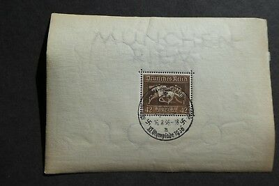 NAZI GERMANY 3rd REICH - BROWN RIBBON DERBY STAMP 1936 - XI OLYMPIADE CANCEL