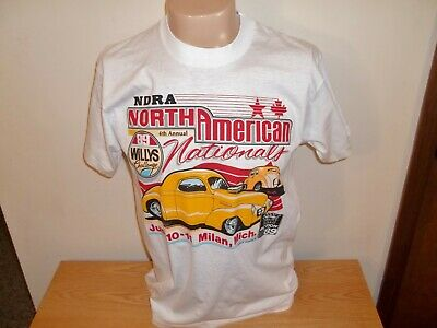Vtg 1989 WILLYS CHALLENGE NDRA DRAG RACE NATIONALS MILAN MICHIGAN T-SHIRT M/L