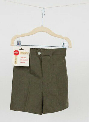 Green Adventure Shorts Vintage 1950s 60s MCM Deadstock New Kid NWT Cotton/Poly