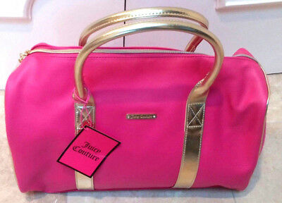 Juicy Couture DUFFLE BAG WEEKENDER BAG TRAVEL BAG OVERNIGHT BAG NWT PINK  GOLD 10270845290c