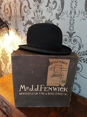 Antique Bowler Hat. Redmayne & co. Hexham. Original Box.Superb condition