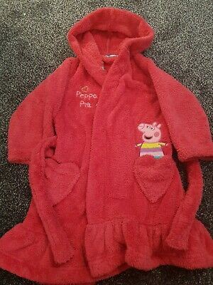 Girls M&S Peppa Pig Pink Dressing Gown Age 18-24 Months
