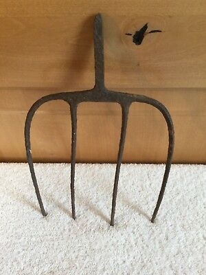 PRIMITIVE Vintage 4 Prong Hay Pitch Fork Head METAL Farm Tool Country Repurposed