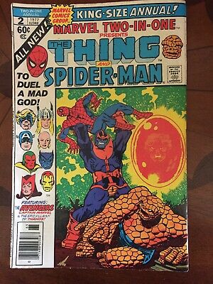 Marvel Two-in-One Annual 2 THING and SPIDER-MAN 1977 DEATH OF THANOS Warlock APP