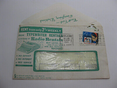 Vintage RADIO RENTALS LETTER & CONTENTS dated 1964 Advertising shop
