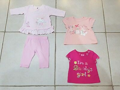Bundle of baby girls outfits 0-3 months.