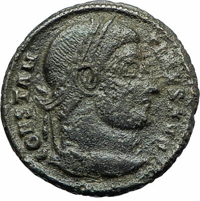 CONSTANTINE I the GREAT 328AD Ancient Roman Coin Military Camp gate i75810