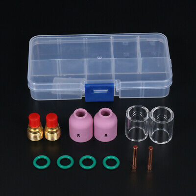 12Pcs TIG Welding Torch Gas Lens Collet Body Assorted Fit WP9/20/25