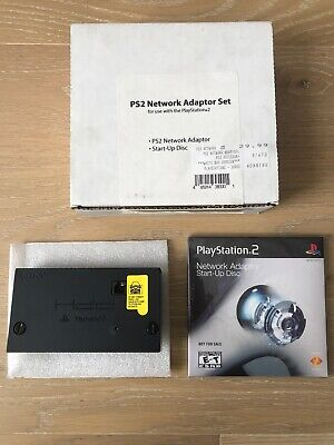 Official Sony Playstation 2 PS2 Network Adapter SCPH-10281 + Start-up Disc NEW