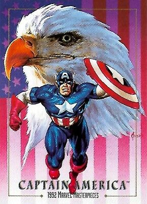CAPTAIN AMERICA 1992 MARVEL MASTERPIECES PROMO - Joe Jusko Rare