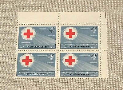 Canada postage stamps block of 4 Red Cross Conference 1952 MNH mint