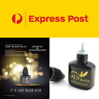 Lady Black 10ml Eyelash Extension Glue AUSTRALIA FREE EXSPRESS POST