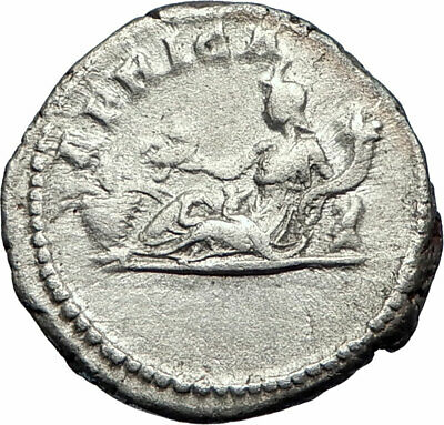SEPTIMIUS SEVERUS 207AD Rome Authentic Ancient Silver Roman Coin AFRICA i73524