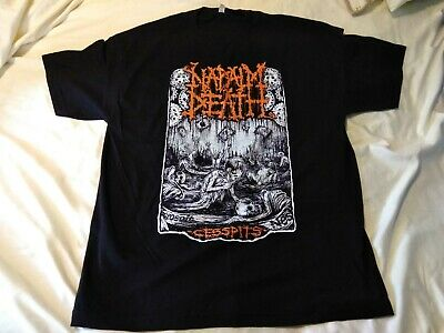 Napalm Death - Cesspits T-Shirt raw black sewage metal scum lord of suffer filth