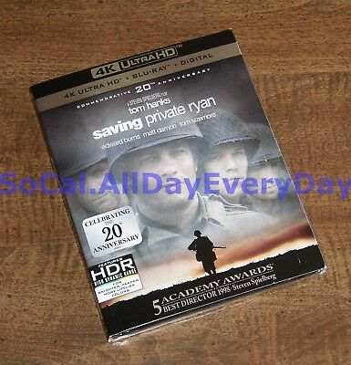 Saving Private Ryan with Slipcover 20th Anniversary (4K UHD + Blu-ray + Digital)