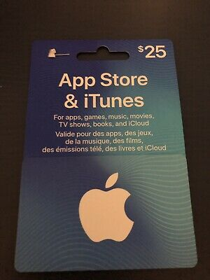 itunes gift card $25.00 Canadian