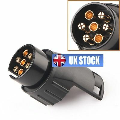 Car Trailer Truck 7 Pin to 13 Pin Plug Adapter Converter Tow Bar Socket