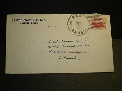USS BAUSELL DD-845 Naval Cover 1955 Sailor's Mail VALLEJO, CALIF