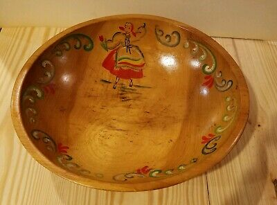 Vintage hand painted Woodcroftery bowl