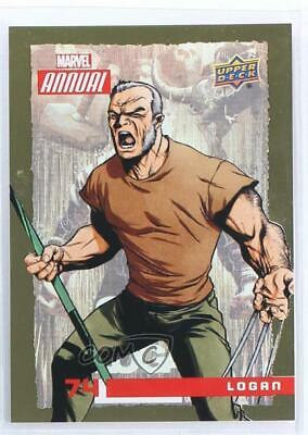 2016 Upper Deck Marvel Annual Gold #74 Logan Non-Sports Card 4et