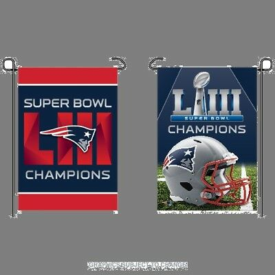 Super Bowl 53 Champions New England Patriots 12.5x18 Double Sided Garden Flag