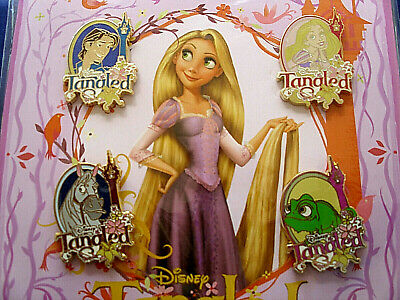 Disney * TANGLED - RAPUNZEL * New in Pack Retired 4 Pin Booster Set - Pascal Max