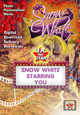 Snow White Personalised Movie starring YOU!!! Digital Download $39.95