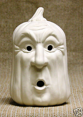 Ceramic Bisque Small Startled Pumpkin Scioto Mold 1730 U-Paint Ready To Paint