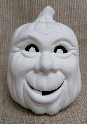 Ceramic Bisque Small Happy Pumpkin Scioto Mold 1728 Ready To Paint