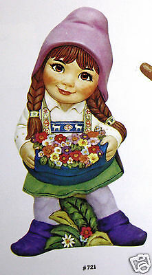 Ceramic Bisque Susie Gnome Large Alberta Mold 721 U-Paint Ready To Paint