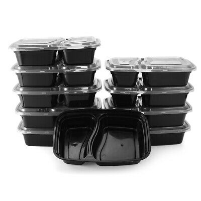 10Pcs Meal Prep Containers Plastic Kitchen Food Storage Reusable Microwavable Lu