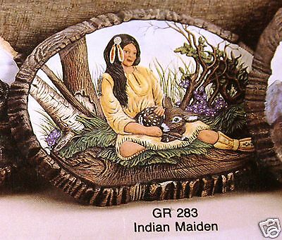 Ceramic Bisque Wall Plaque The Maiden Gold Rush Mold 283 U-Paint Ready To Paint