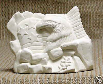 Ceramic Bisque Memorial Eagle Rock Base Boothe Mold 1720 U-Paint Ready To Paint