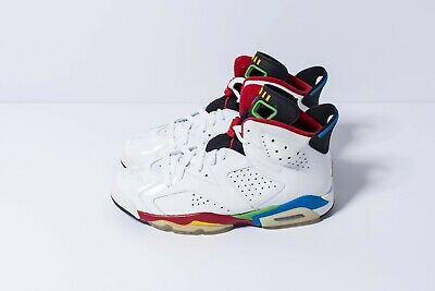 5d1901eace18 NIKE AIR JORDAN 6 Retro 2008 Olympic - Wht Varsity RedGreenBlue ...