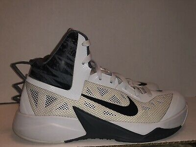 sports shoes 39c63 d6d57 Nike Mens HYPERFUSE Basketball Shoes 615896-004 White Black Gray Size 9