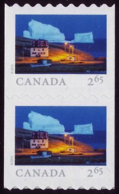 CANADA 2019 From Far and Wide -2, coil pair with #, $2.65 Iceberg Alley MNH