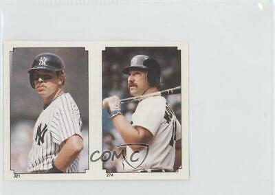3b865c8d65 1984 Topps Album Stickers 321-274 John Wockenfuss Butch Wynegar New York  Yankees