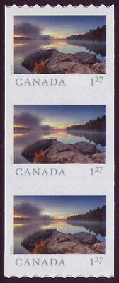 CANADA 2019 From Far and Wide -2, Strip of 3 x $1.27 (USA) Smoke Lake MNH