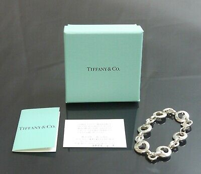 Authentic Tiffany & Co. bracelet Heart Vintage 1999 Sterling Silver #1069