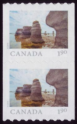 CANADA 2019 From Far and Wide -2 coil Pair, with #, $1.90 Mingan Archipelago MNH